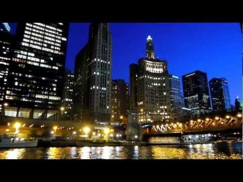 Chicago River at Night  [HD 1080]