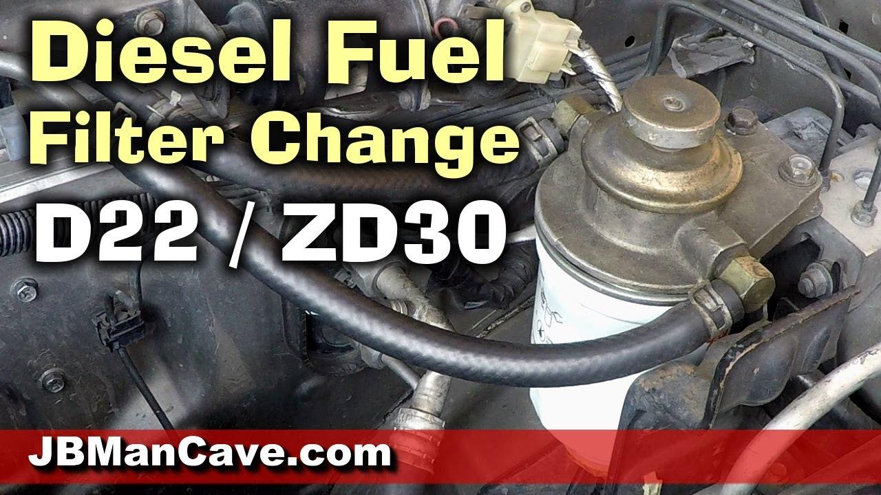 How To Change D22 Frontier Fuel Filter On ZD30 Engine DIY: | by JBorde.com