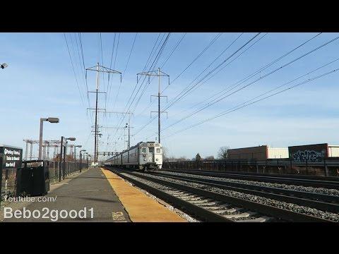 Amtrak NEC / NJ Transit Trains at Jersey Avenue Station (NJ)