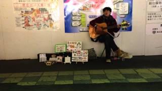 川越西口でほぼ毎日22時頃から路上ライブを行っている、 小松純也手作...