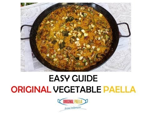How to make an original VEGETABLES PAELLA from Spain.