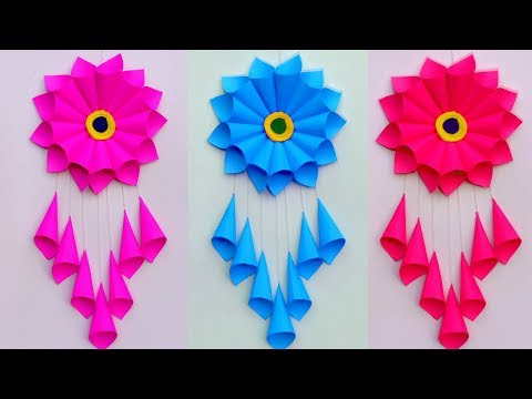 PAPER CRAFT!!! WALL HANGING CRAFT IDEAS!! ROOM DECORATION/DIY ART AND CRAFT /Creative Art