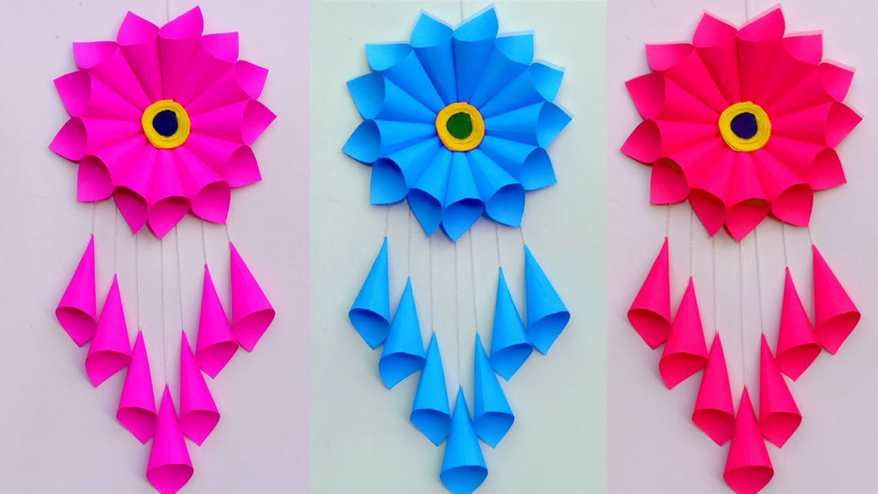 PAPER CRAFT!!! WALL HANGING CRAFT IDEAS!! ROOM DECORATION ...