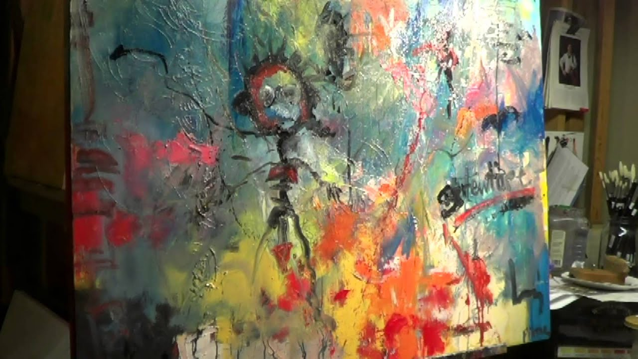 oil painting abstract starting over youtube