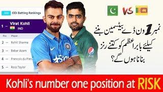 Will Babar Azam snatch No.1 Position from Virat Kohli | ICC ODI ranking 2019