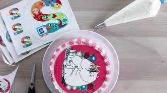 Kakkukuvan käyttöohje - Kakkukuva kakkuun