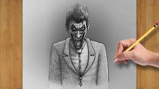 joker scary easy batman drawing draw comic