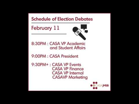 CASAJMSB Live Debates - CASA Executive Positions
