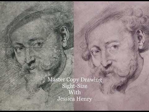 Drawing a Master Copy, Sight-Size, with Jessica Henry