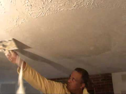 How to remove textured wall ceilings water damage for How to remove popcorn ceiling without water