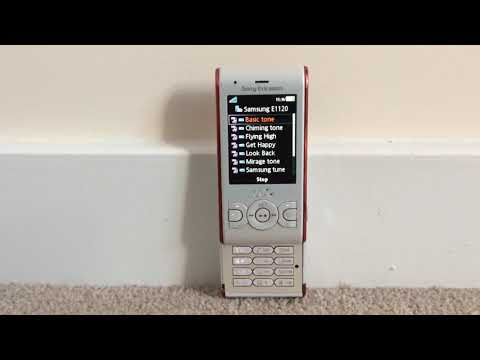 Samsung E1120 Ringtones on Sony Ericsson W595
