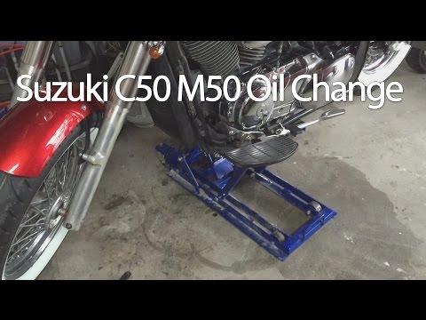 How To Change The Suzuki Boulevard C50 M50 VL800 Motorcycle Oil