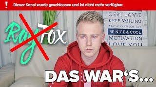 Mein Kanal wird GELÖSCHT ! 😭 Das Ende von YouTube... II RayFox