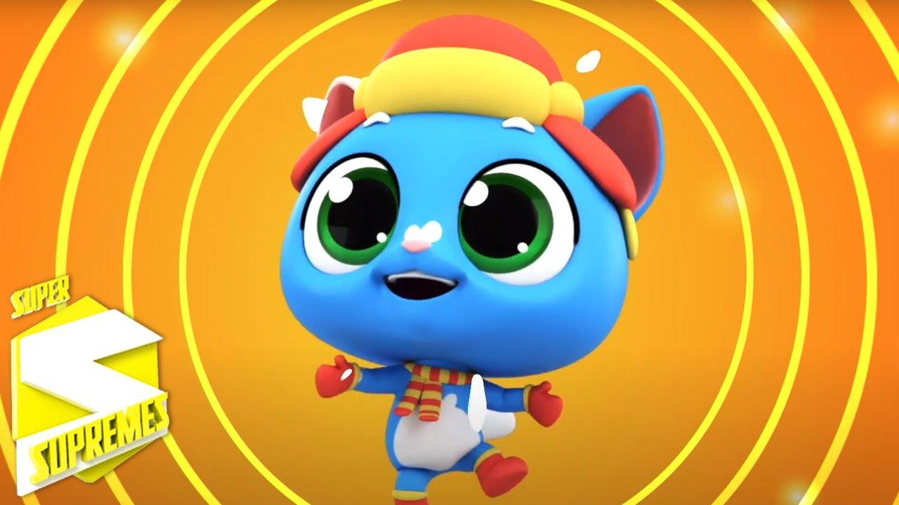 Tres pequeños gatitos | Videos para bebes | Educación | Super Supremes Español | Dibujos animados