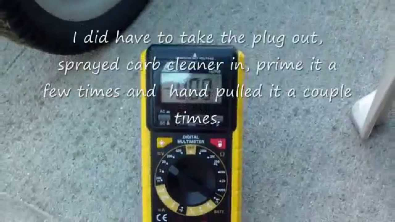 How to charge the Craftsman 650 battery start lawn mower model 917 37641