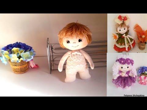 Muñeca de tela. Como hacer  muñeca de tela.  muñeca de trapo .Мастер классы Tetyana Shchepkina