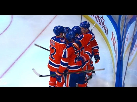 Oilers score first playoff goal in 11 years