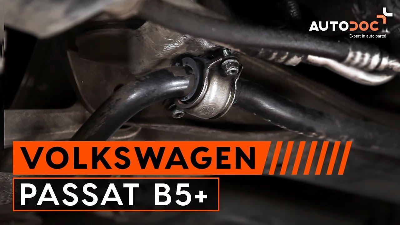 Jak wymienić tuleja stabilizatora przedniego w VW PASSAT ...