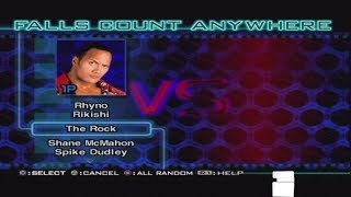 WWF Smackdown Just Bring It Character Select Screen Roster Including All Unlockables & Arenas