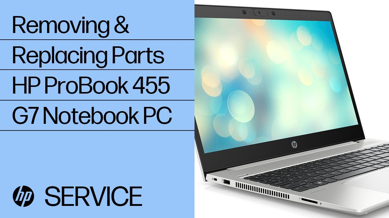 Service Teardown: HP ProBook 455 G7 Notebook PC | HP Computer Service | HP
