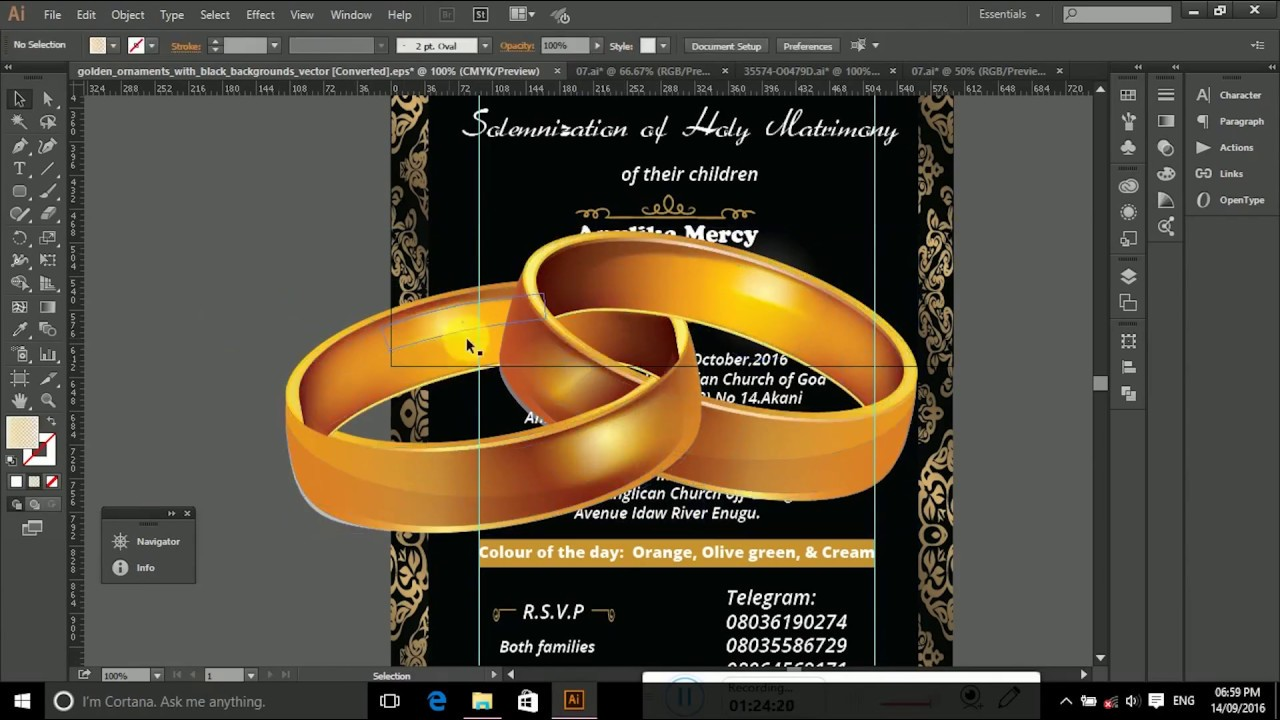 Illustrator how to create a wedding invitation card in adobe illustrator how to create a wedding invitation card in adobe illustrator stopboris Gallery