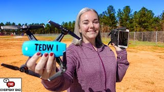 She flies (and ALMOST BREAKS) her DJI SPARK! Introducing The Everyday Wife!