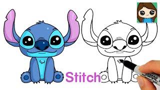 How to Draw Stitch from Lilo and Stitch (New)