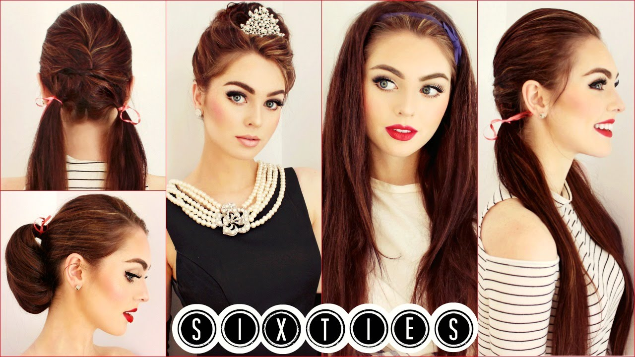 Audrey Hepburn Hair Tutorial | Easy & Cute 60\'s Hairstyles | Jackie ...
