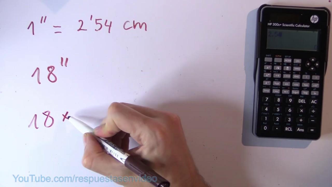 """Cuántos centímetros son 18 pulgadas - 18"""" en cm - YouTube"""