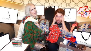 Surprising Shane Dawson w. $15,000 Gucci Makeover