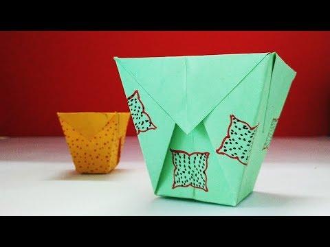 Paper Trash Bin