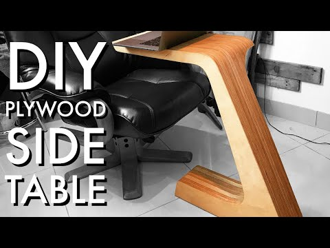 DIY Plywood Side Table from 1 Sheet of Plywood - #RocklerPlywoodChallenge