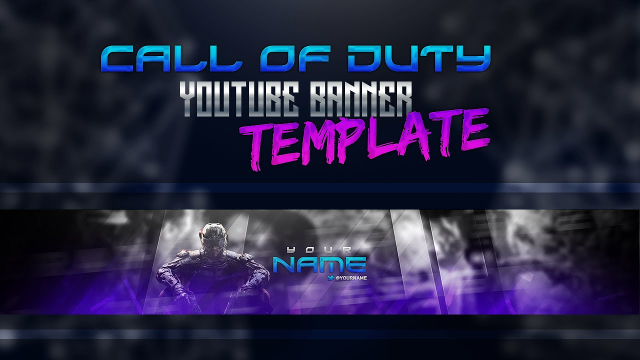 free youtube banner template call of duty style