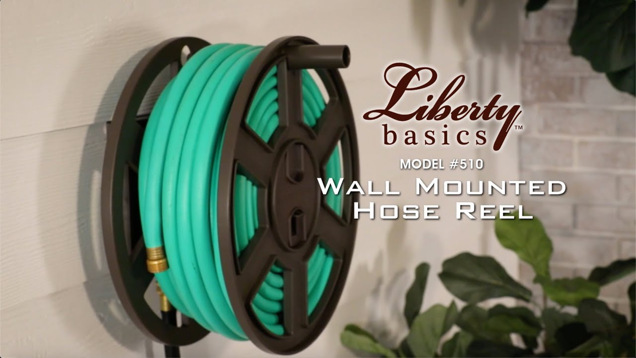 510 Liberty Basics Wall Mounted Hose Reel Youtube
