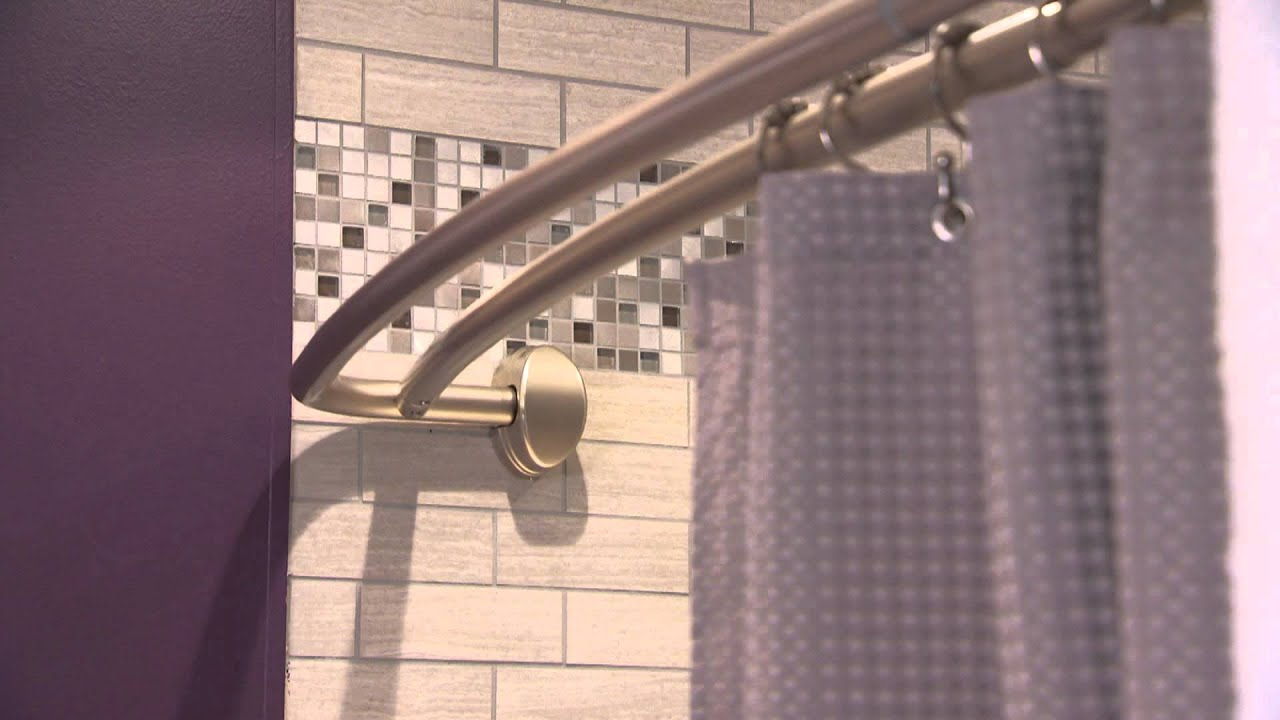 Zenna Home NeverRust Double Curved Shower Rods  YouTube