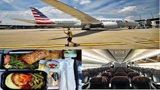 American Airlines 787 ECONOMY CLASS London to Chicago