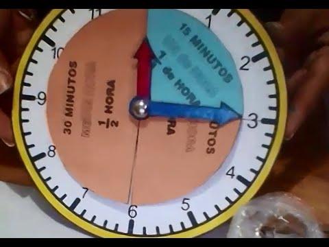 Reloj para trabajar la hora y sus fracciones youtube - Reloj de pared gigante ...