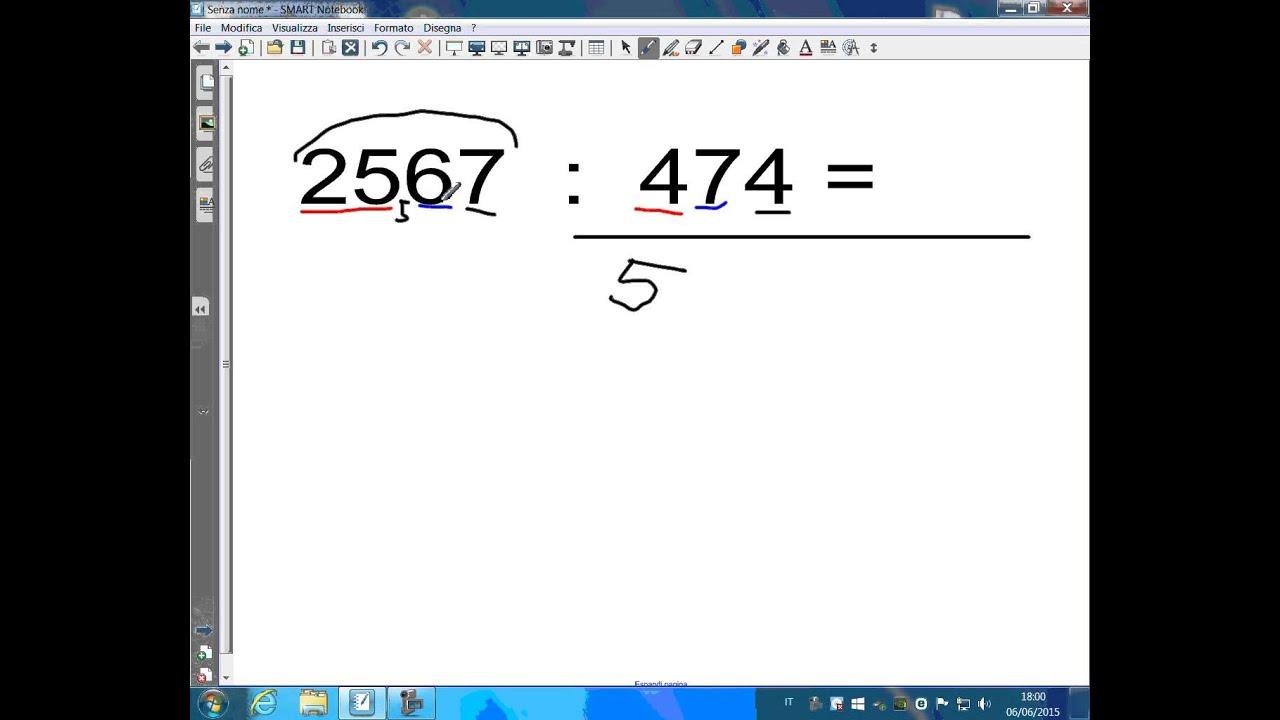 Divisione A Tre Cifre Con Software Lim Youtube