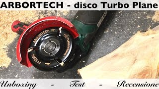 Incredibile!! Disco ARBORTECH TurboPlane. per smerigliatrici angolari. Ottimo per scolpire il legno.