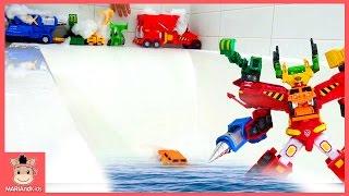 헬로카봇 하이퍼빌디언 6단 합체 장난감놀이 ♡ 로봇장난감 샤워 물놀이 장난감 놀이 Carbot Toys Fun Play for Kids | 말이야와아이들 MariAndKids