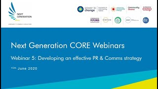 5. Developing an effective PR and Comms strategy. Next Generation Community Solar Webinars