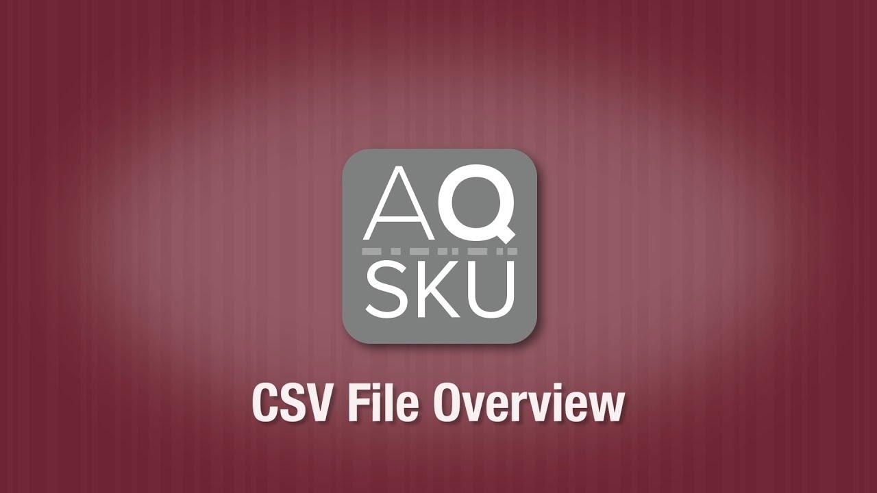 AQ SKU CSV Explainer