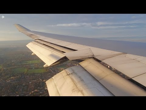 British Airways B747-400 Onboard Sunrise Landing at London Heathrow