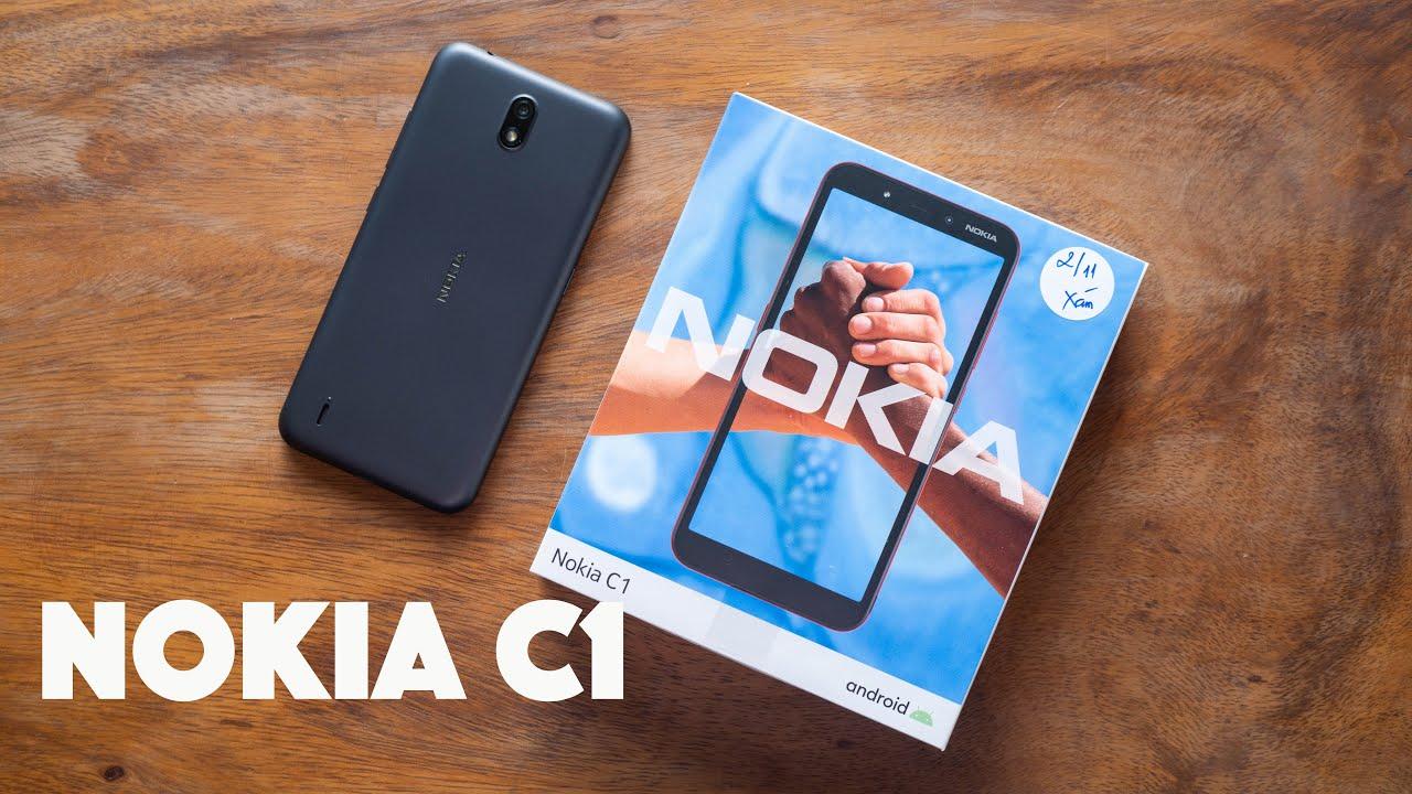 Mở hộp Nokia C1: giá rẻ 1,39 triệu, chạy Android Go, phím cứng Google Assistant, BH 1 đổi 1