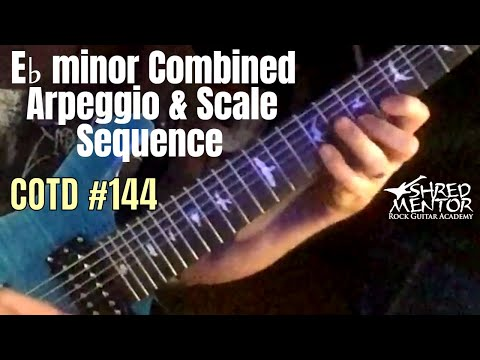 E♭ minor Combined Arpeggio & Scale Sequence | ShredMentor Challenge of the Day #144