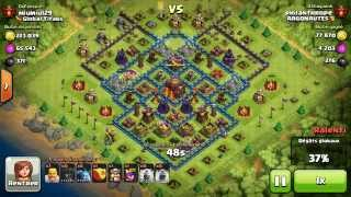 BM082 Balloons and Minions Strategy against champion level opponent Clash of Clans CoC