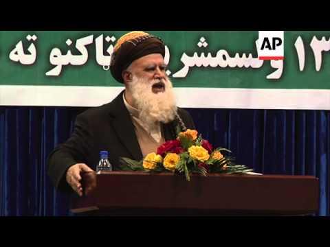 Abdul Rab Rasoul Sayyaf, Pashtun lawmaker and Islamic scholar, kicks off his election campaign