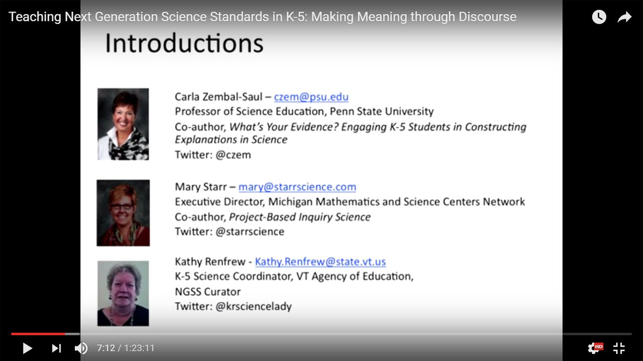 Teaching Next Generation Science Standards in K-5: Making Meaning ...