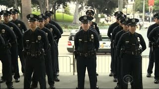 New cadets join LAPD day after Dallas shooting