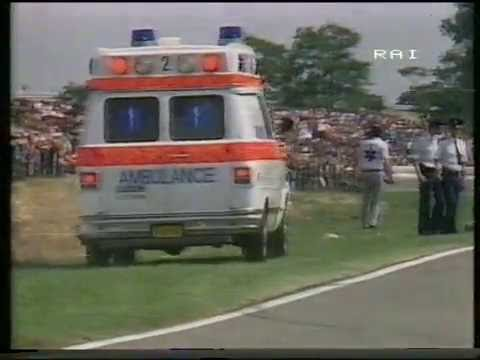 Franco Uncini's crash - 500cc, 1983, Dutch TT (Assen)